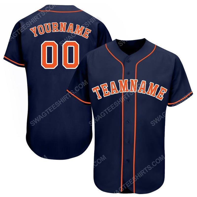 Custom name major league baseball houston astros baseball jersey