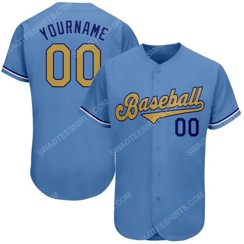 Custom name major league baseball milwaukee brewers baseball jersey