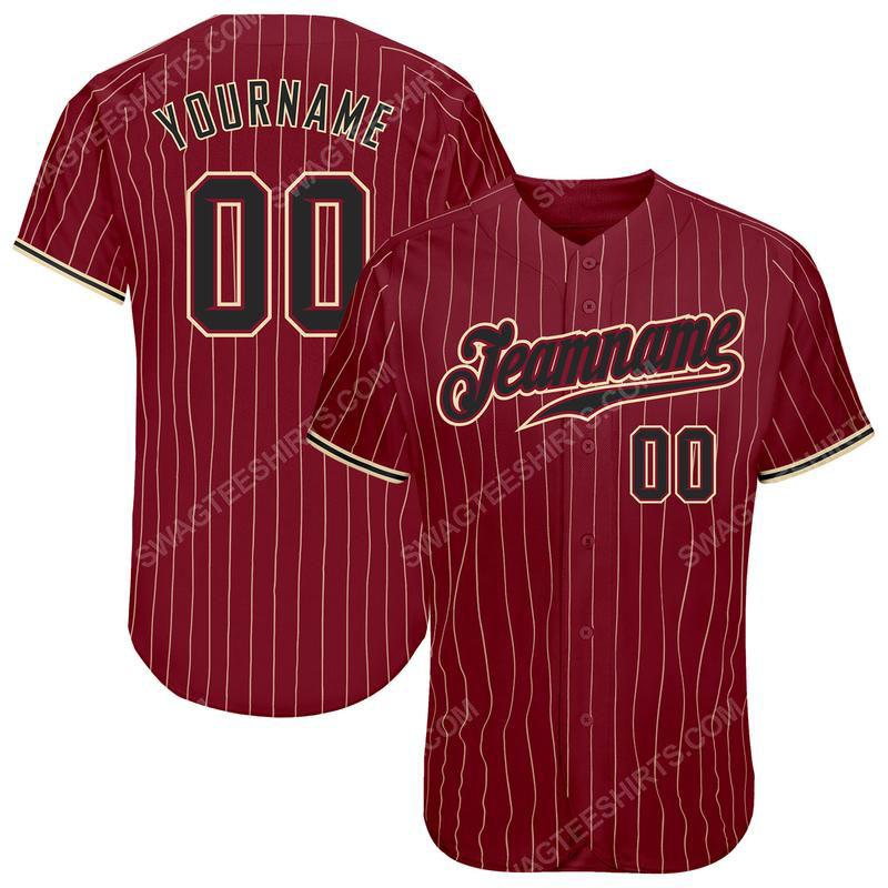 Custom name the alabama crimson tide full printed baseball jersey