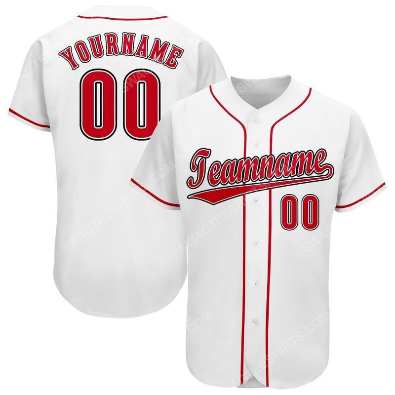 Custom name the cincinnati reds team full printed baseball jersey