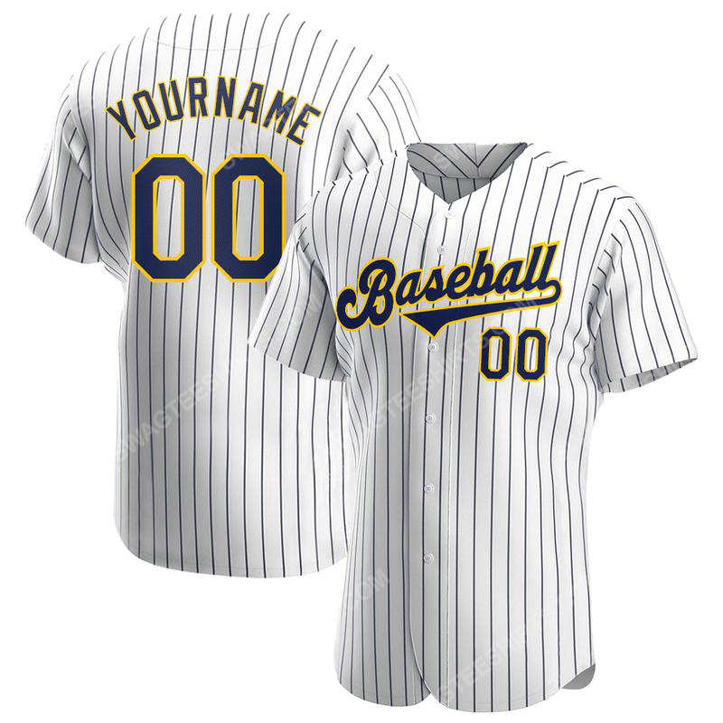 Custom name the milwaukee brewers full printed baseball jersey