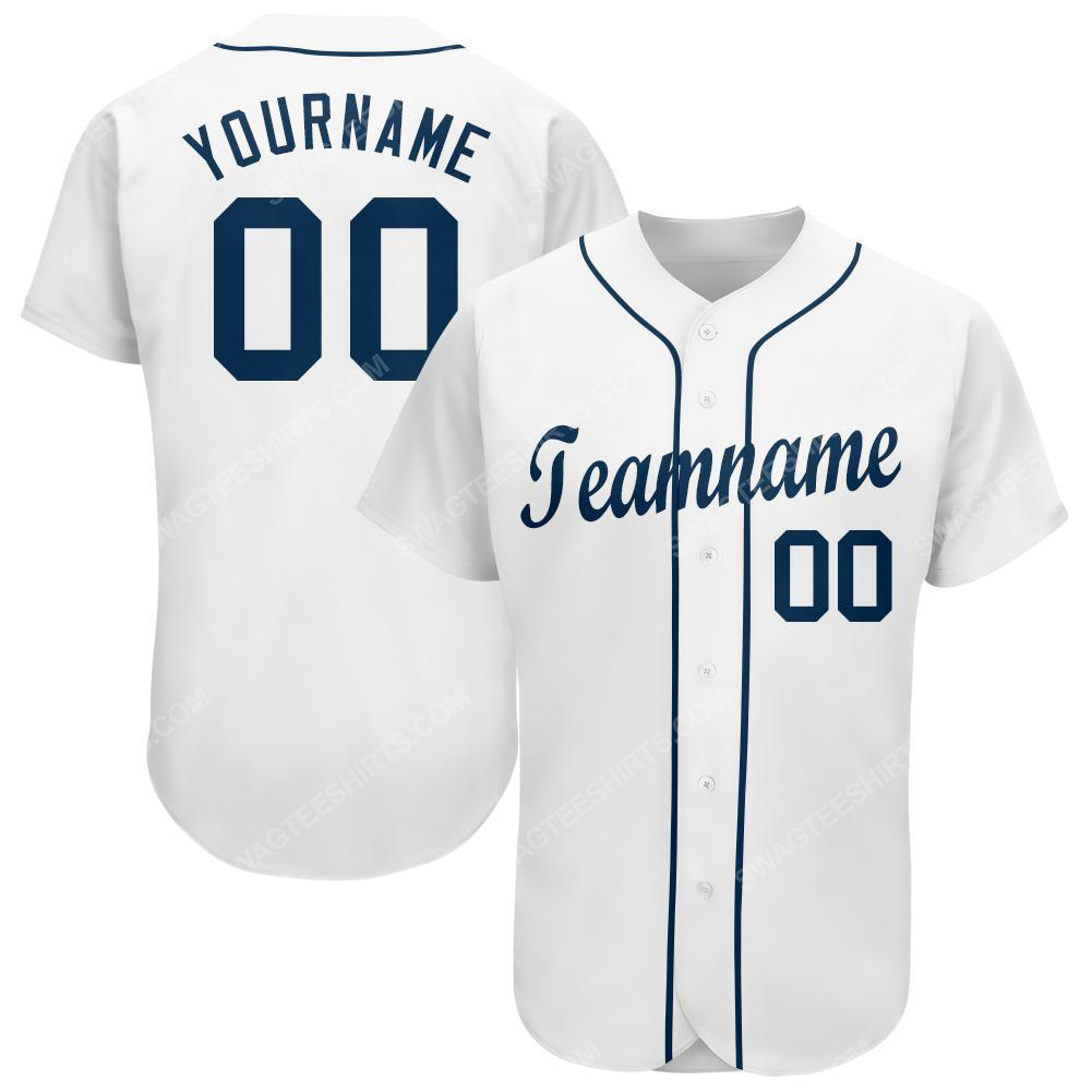 Custom team name detroit tigers full printed baseball jersey