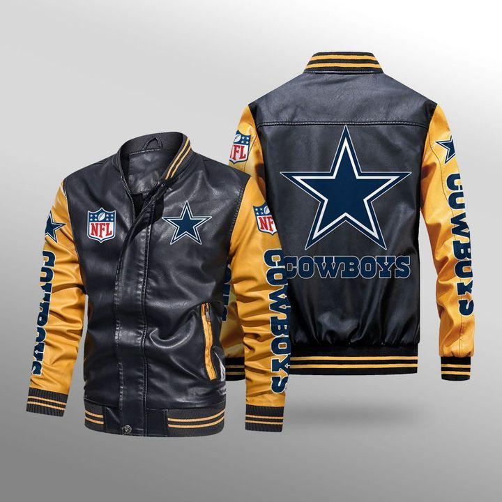 Dallas Cowboys Leather Bomber Jacket -BBS