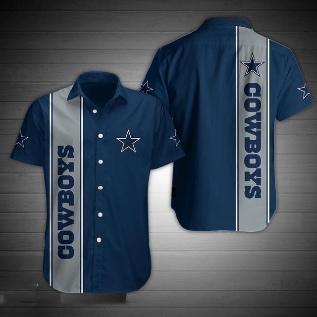 Dallas Cowboys Short Sleeve Hawaiian Shirt - Hothot 040821