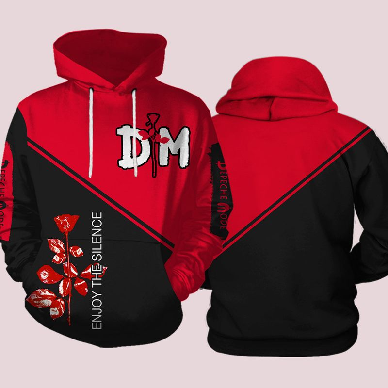 Depeche mode enjoy the silence all over print hoodie and shirt