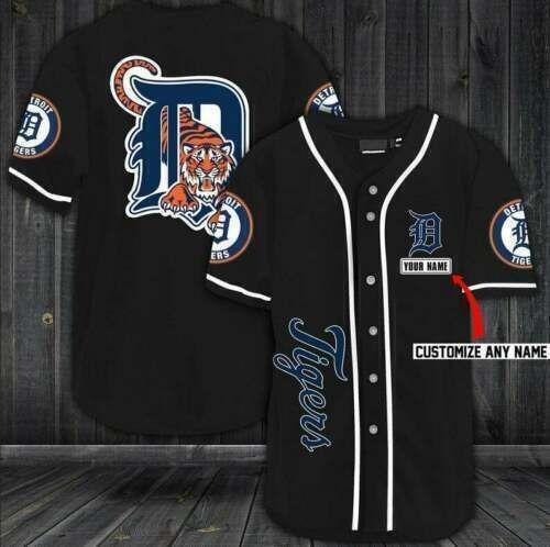 Detroit Tigers Personalized Baseball Jersey Shirt