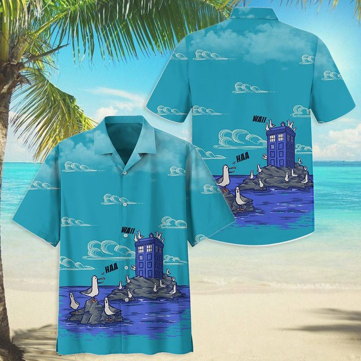 Disney and Doctor Who seagulls hawaiian shirt