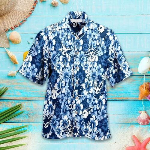 Eevee Pokemon Tropical Hawaiian Shirt