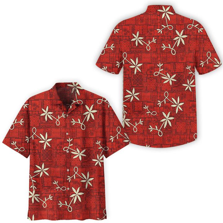 Elvis red aloha hawaiian shirt