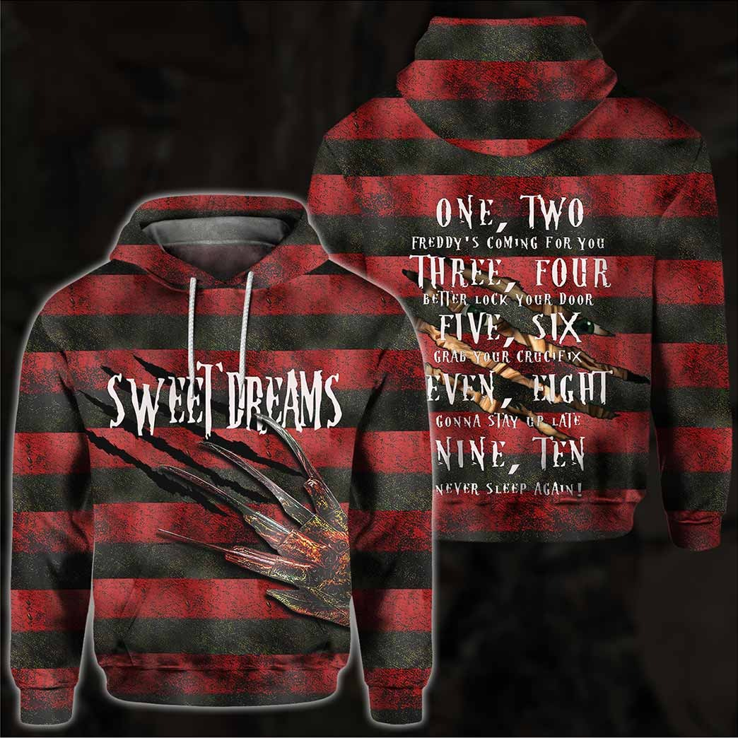 Freddy Krueger Sweet Dreams One Two Three All Over Print Shirt