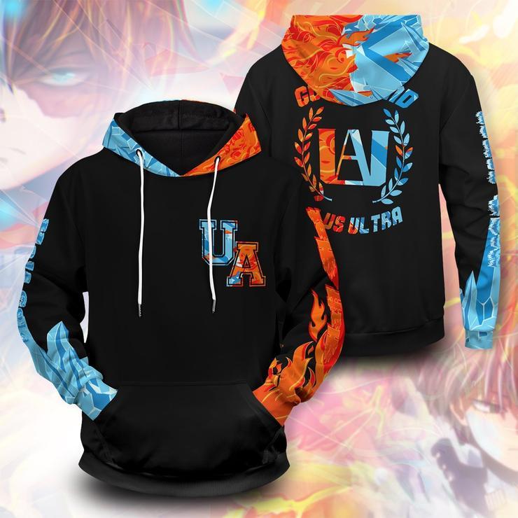 Go beyond plus ultra UA Shoto fire ice unisex pullover hoodie