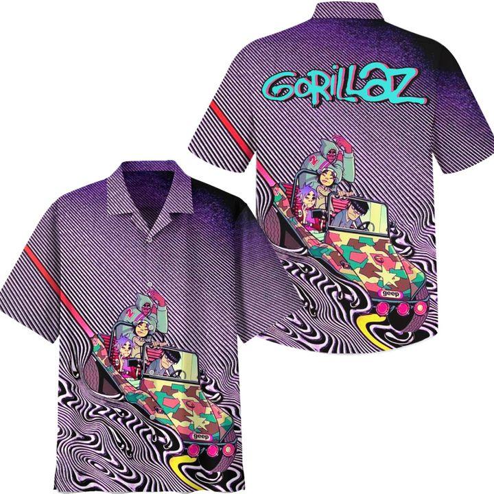 Gorillaz Psychedelia hawaiian shirt