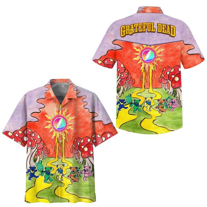 Grateful Dead Dancing Bears Hawaiian Shirt
