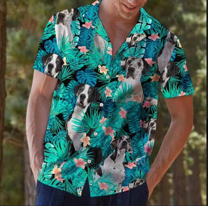 Great dane hawaiian shirt2