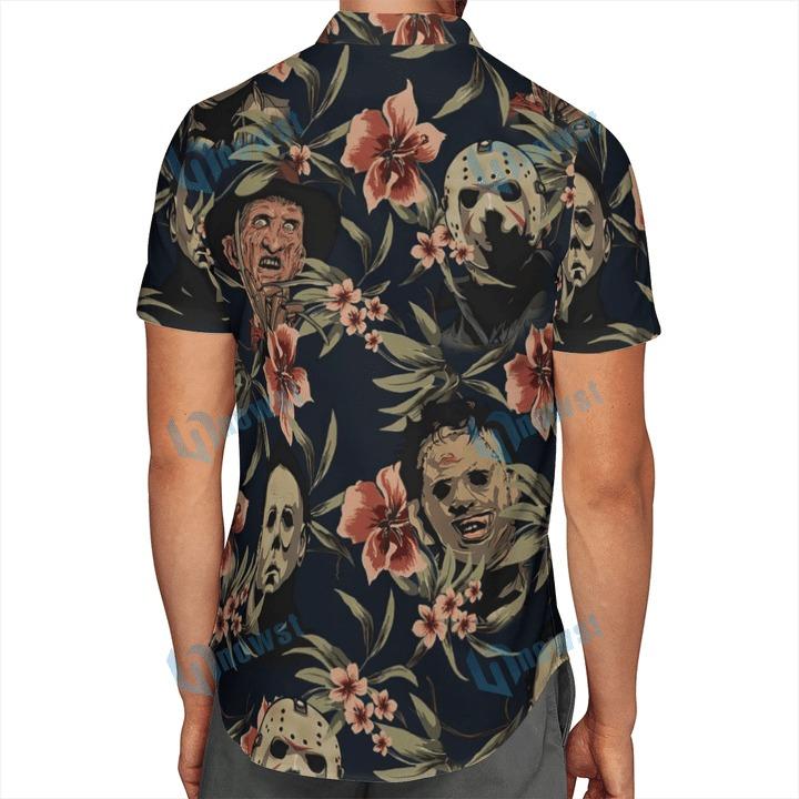 Halloween Horror Characters Hawaiian Shirt And Beach Short 2