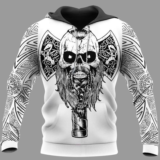 Hammer and tree axe 3d hoodie