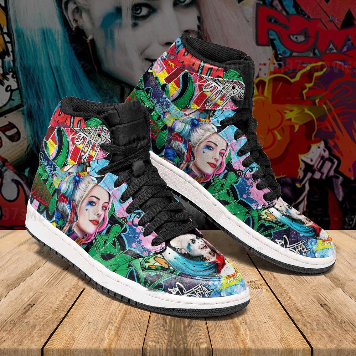 Harley Quinn Jordan Sneakers custom shoes