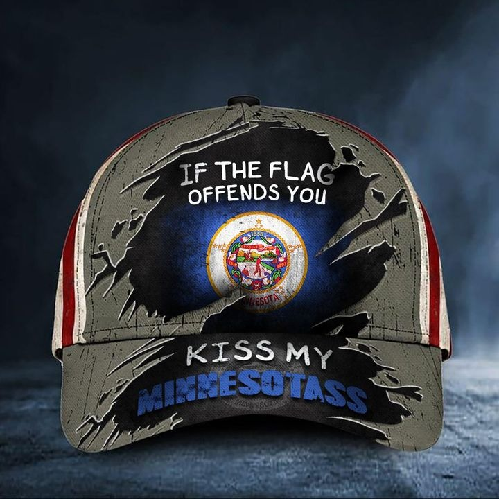 If The Flag Offends You Kiss My Minnesotass Cap Hat