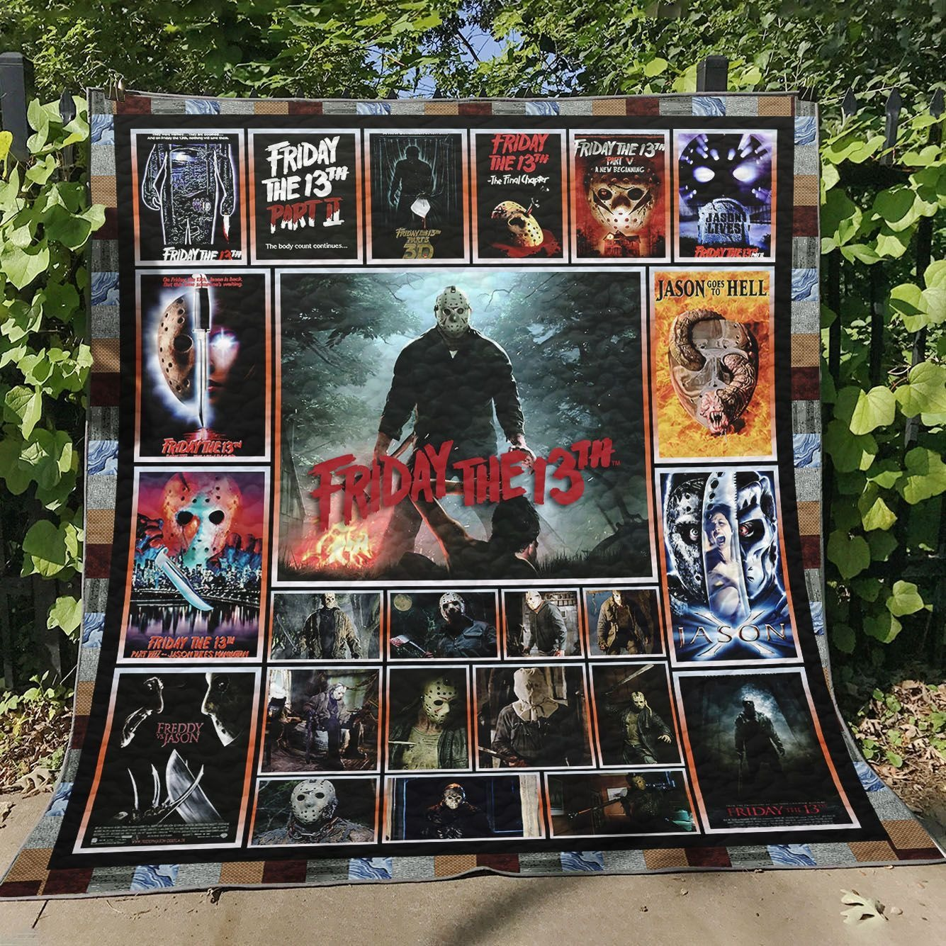 Jason Voorhees Friday The 13Th Quilt