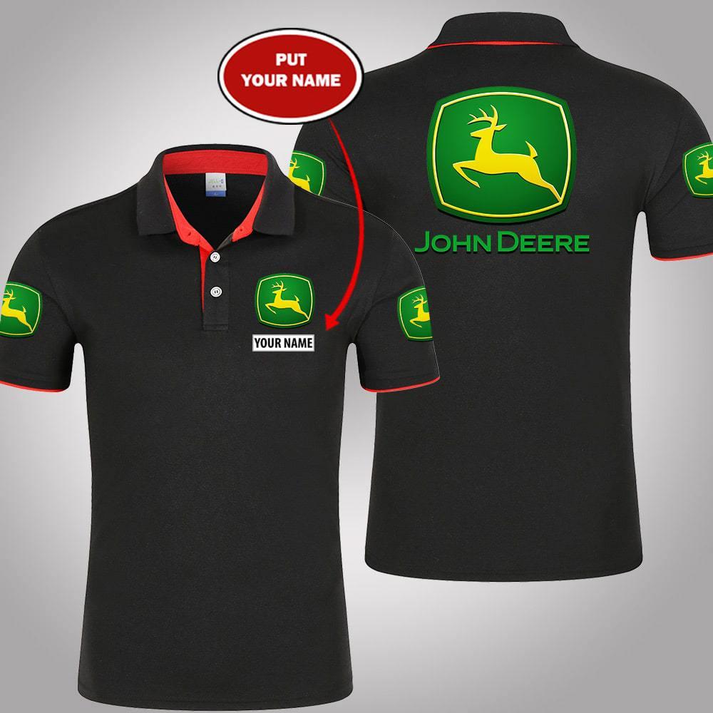 John Deere personalized custom name polo shirt