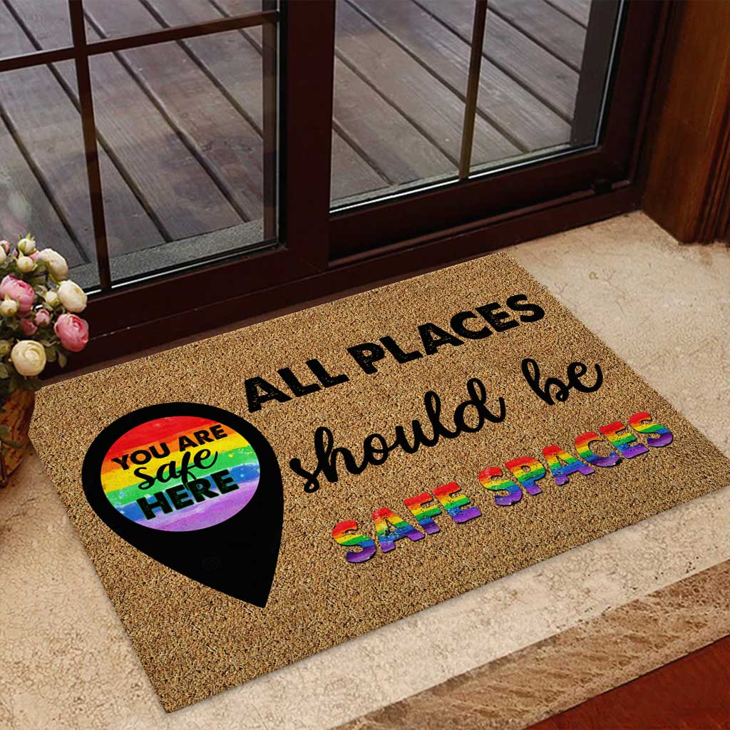 LGBT all places should be safe spaces doormat