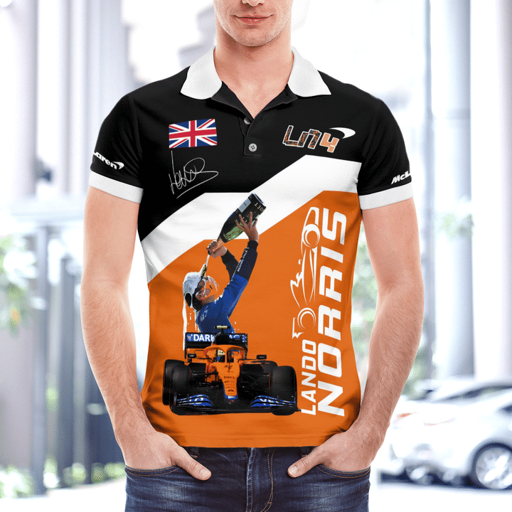 Lando Norris F1 driver polo shirt