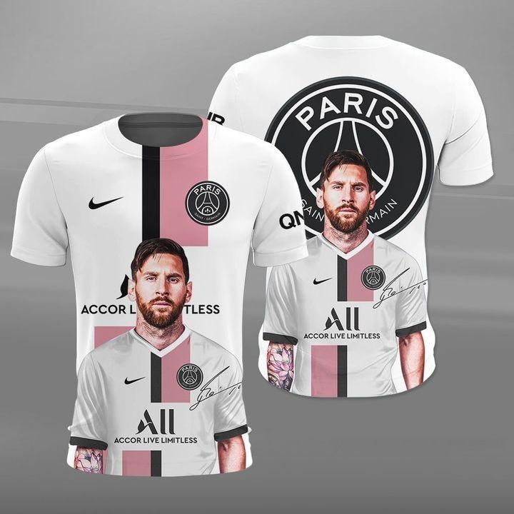 Lionel Messi Paris Saint Germain 3d t-shirt and polo shirt