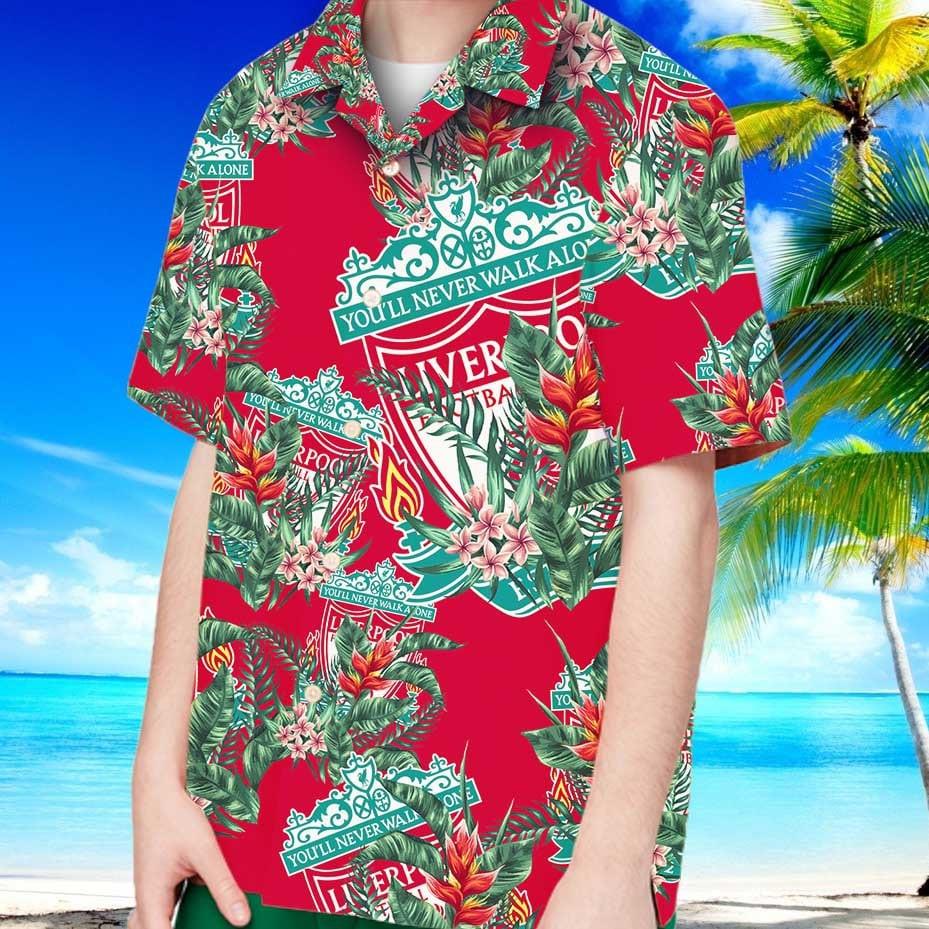 Liverpool fc hawaiian shirt