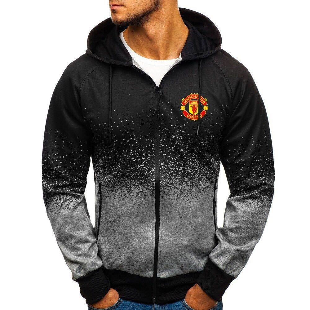 Manchester United gradient zip hoodie1