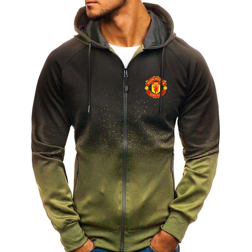 Manchester United gradient zip hoodie2