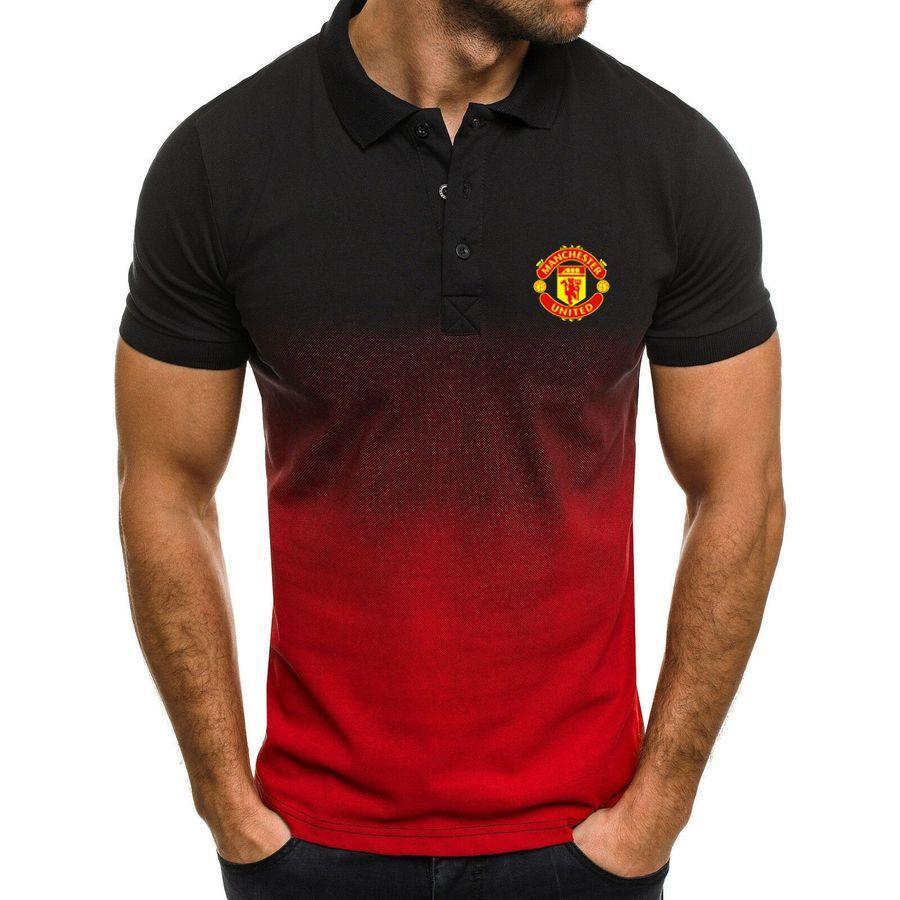 Manchester United men's gradient polo shirt