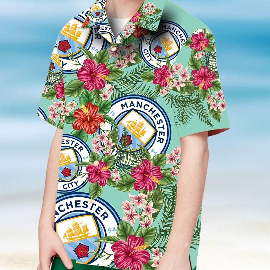 Manchester city hawaiian shirt