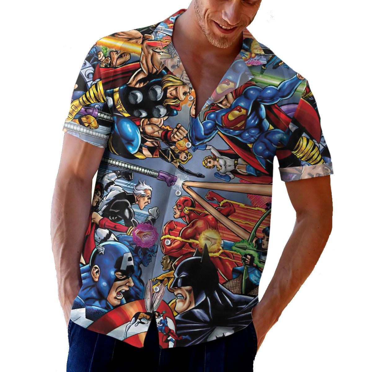 Marvel vs Dc Comic Hawaiian Shirt