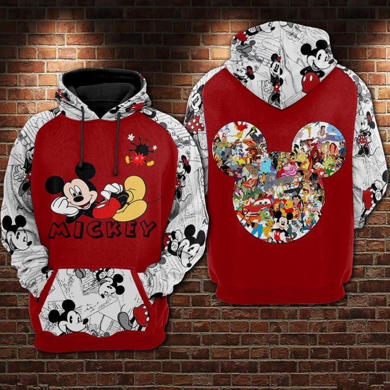 Mickey Disney 1971-2021 50th anniversary 3d all over printed hoodie