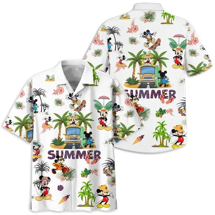 Mickey mouse summer hawaiian shirt