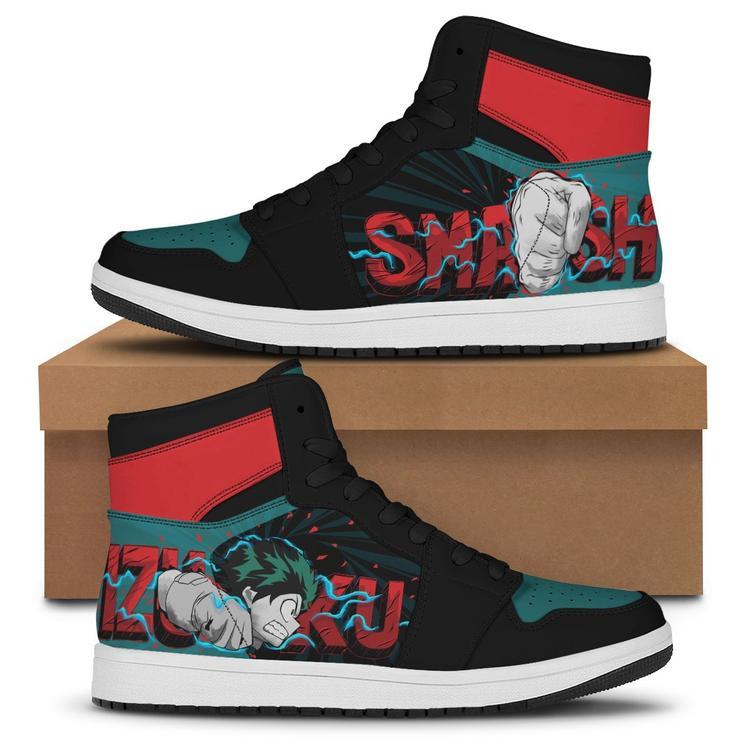 Midoriya Smash air jordan high top Sneakers1