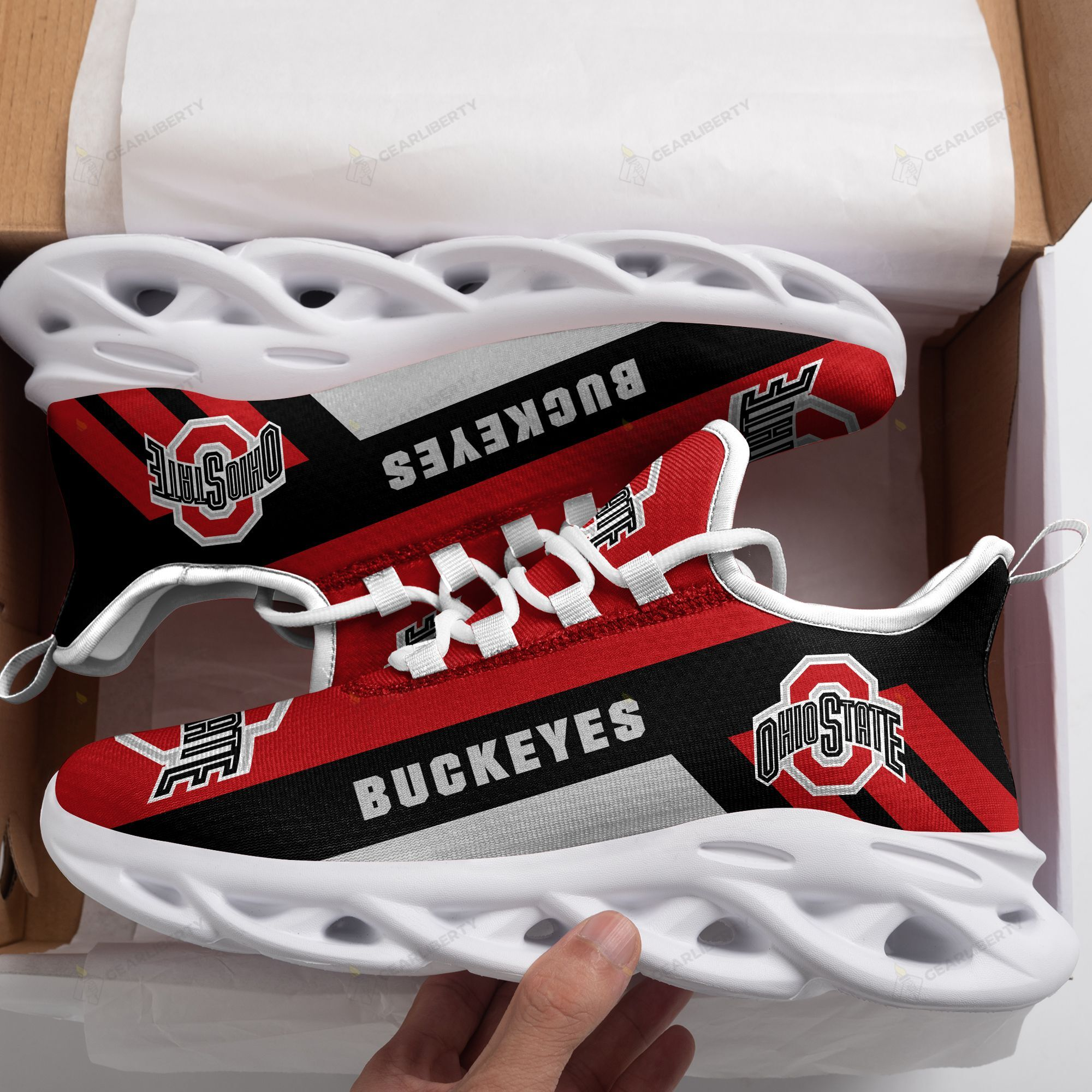 NCAA Ohio State Buckeyes clunky max soul Sneaker shoes - LIMITED EDITION