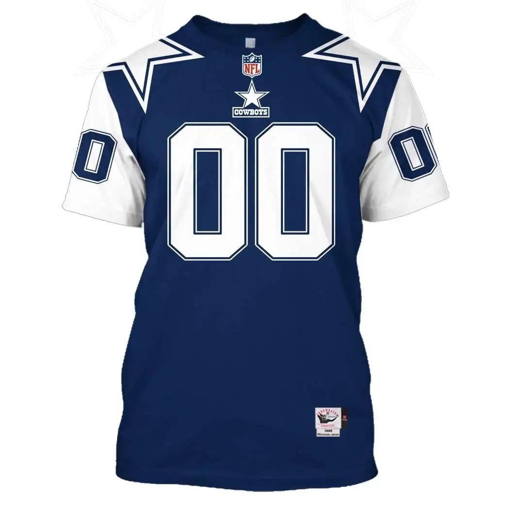 NFL Dallas Cowboys Custom Name Number 3D Full Print Shirt - Hothot 240821