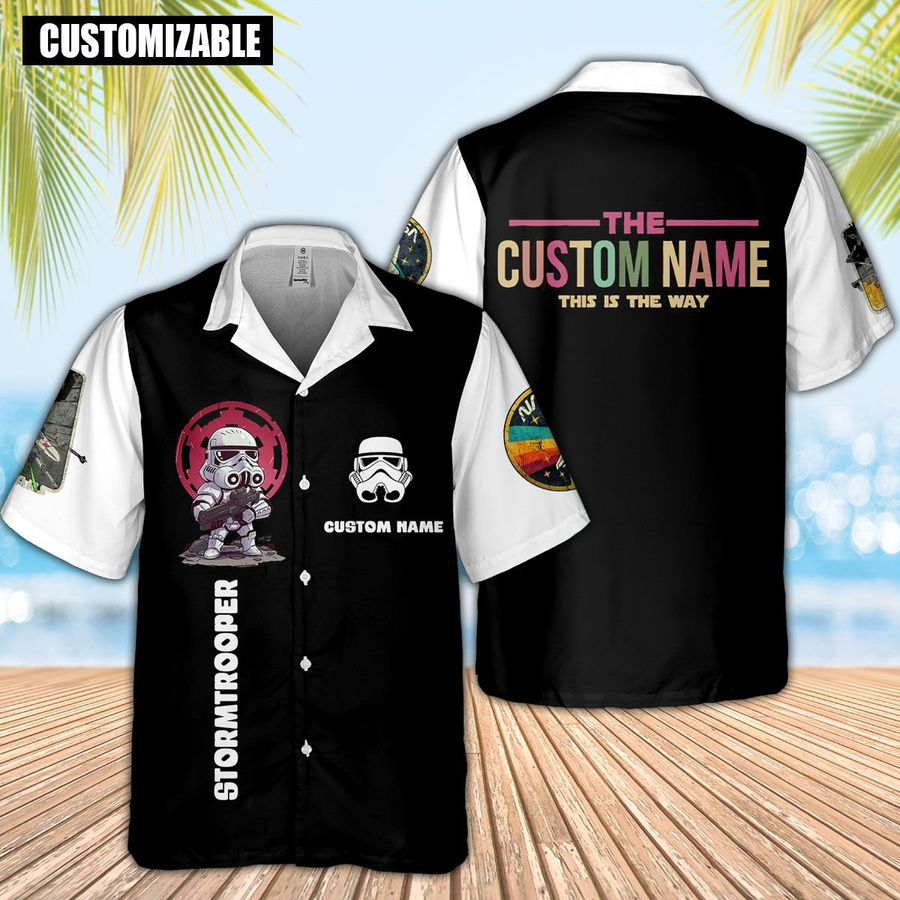 Personalized custom name star wars stormtrooper this is the way hawaiian shirt