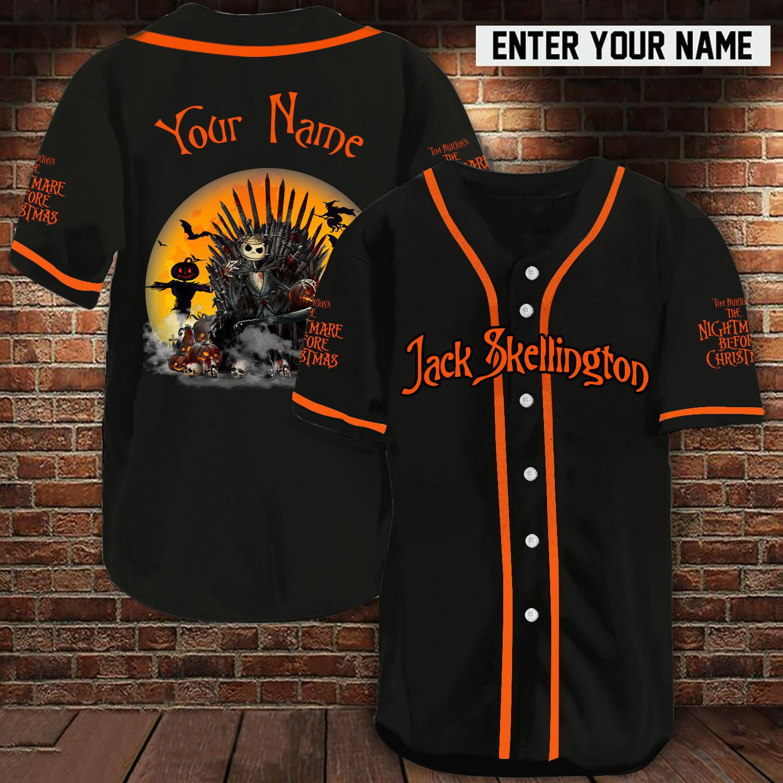 Personalized name Jack Skellington Game Of Thrones baseball jersey shirt