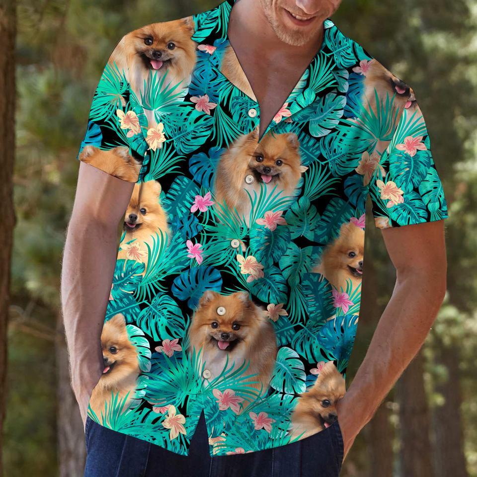 Pomeranian hawaiian shirt2