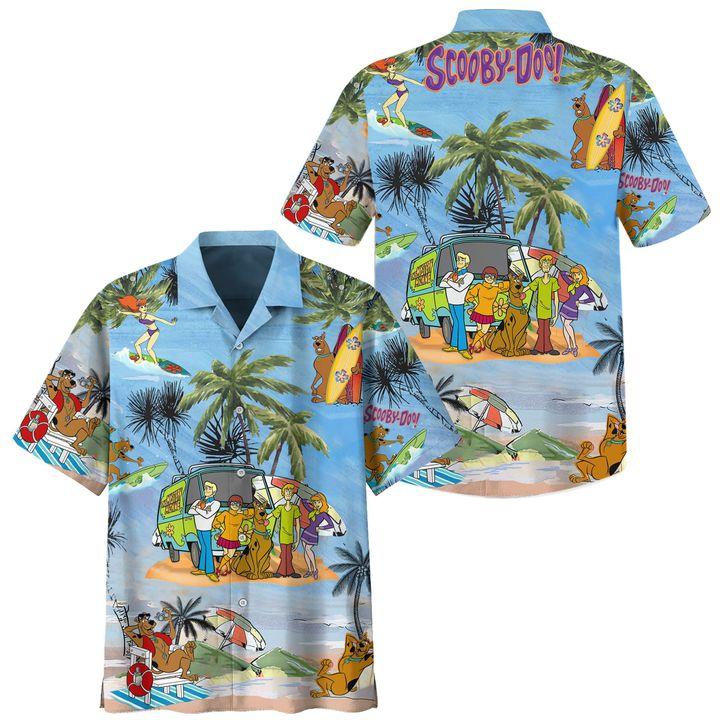 Scooby Doo Summer Beach Vacation Hawaiian Shirt