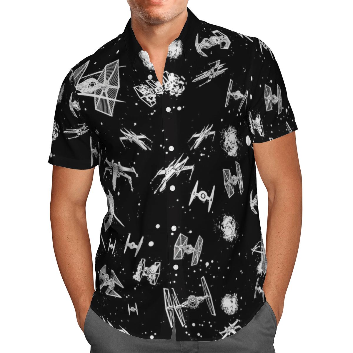 Space ships Hawaiian shirt