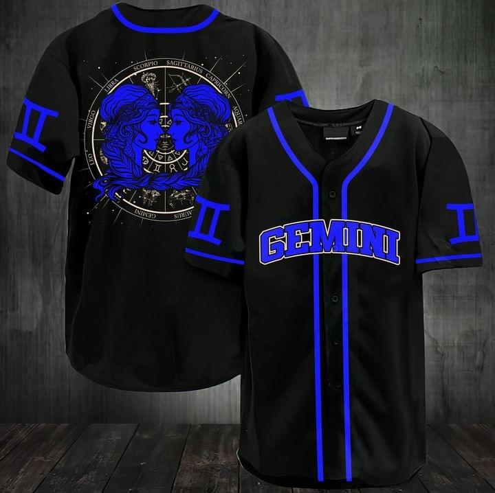 Stunning zodiac gemini baseball jersey shirt