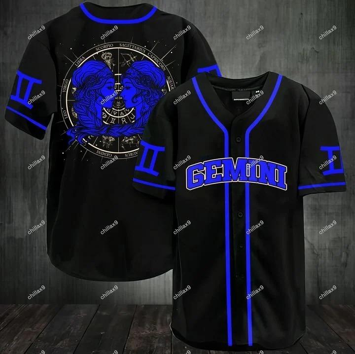 Stunning zodiac gemini baseball jersey