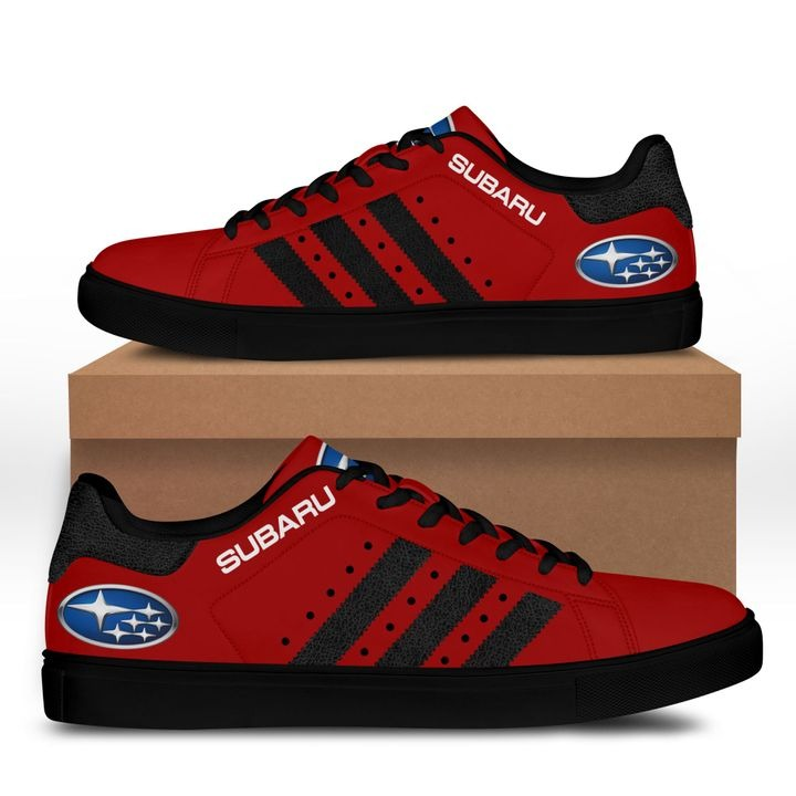 Subaru Dark Red Stan Smith Shoes 1