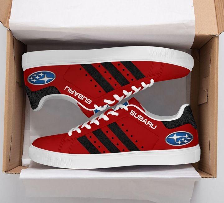 Subaru Dark Red Stan Smith Shoes 2