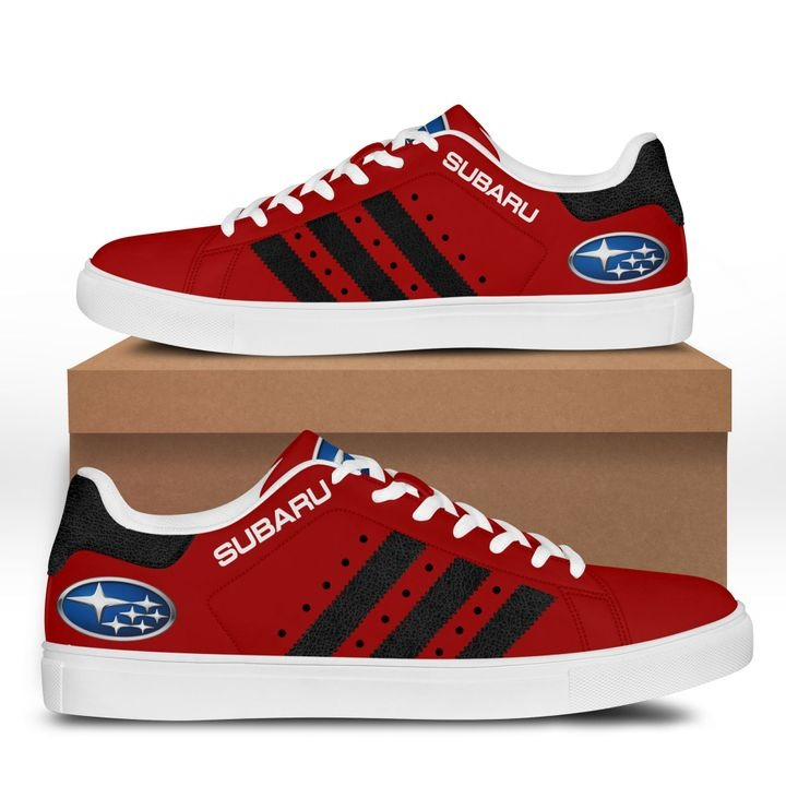 Subaru Dark Red Stan Smith Shoes 3