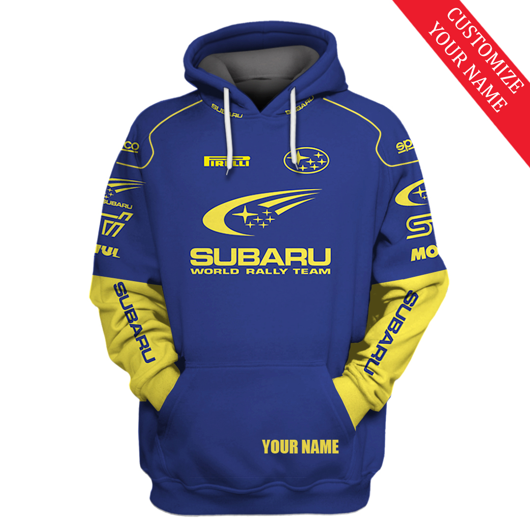 Subaru Motors Finance F1 racing custom name 3d hoodie and shirt - LIMITED EDITION