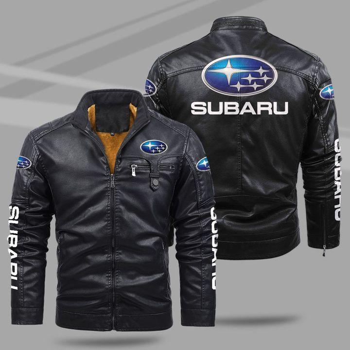 Subaru fleece leather jacket -BBS